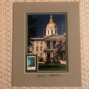 Autographed NH Statehouse photo by Governor.